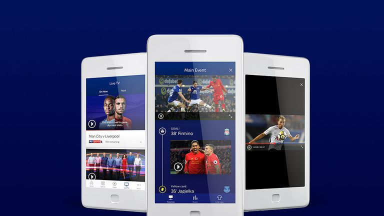 The new Sky Sports app  has an enhanced live feature