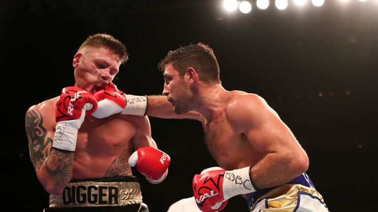 Frank Buglioni successfully defended his British title after overcoming game challenger Ricky Summers