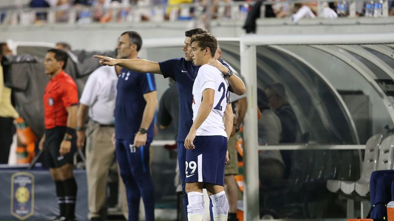 Harry Winks donned a Tottenham shirt against PSG for the first time after injury