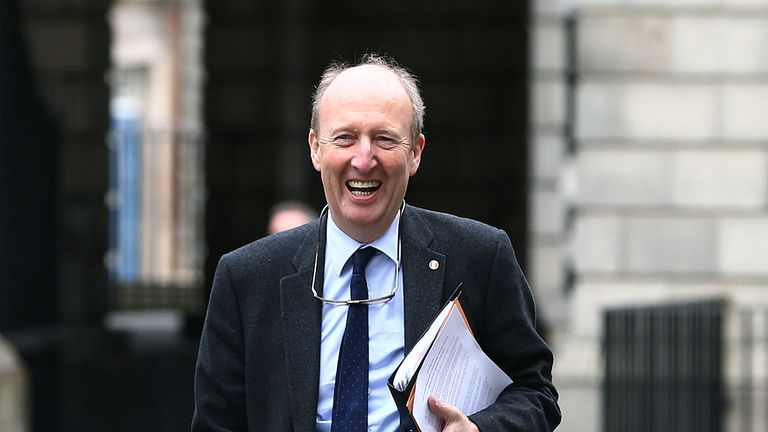 Ireland's Minister for Transport, Tourism and Sport Shane Ross