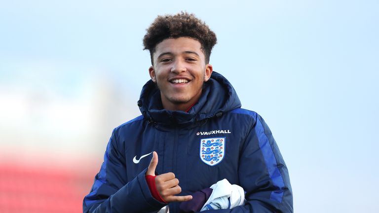 Jadon Sancho has been promoted to the England U19 side