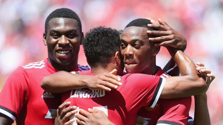 Anthony Martial provided a brilliant assist for Jesse Lingard's goal