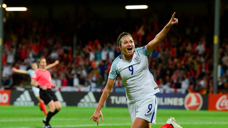 Jodie Taylor was the star turn for England at Euro 2017
