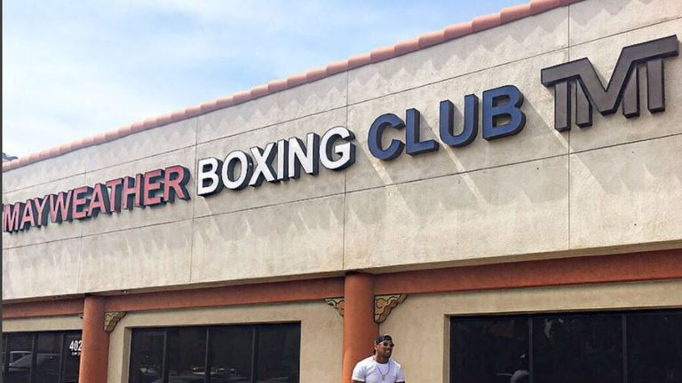 Anthony Joshua has been spending time in Las Vegas and was pictured at Floyd Mayweather's gym (Instageam @Anthony_Joshua)