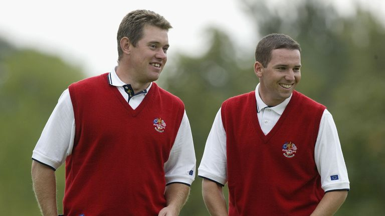 Westwood and Garcia enjoyed a successful Ryder Cup partnership, starting in 2002