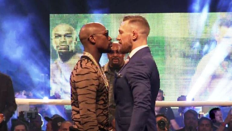 Mayweather says he is undeterred by McGregor's taunts