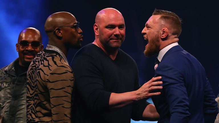 UFC president Dana White splits Floyd Mayweather and McGregor apart