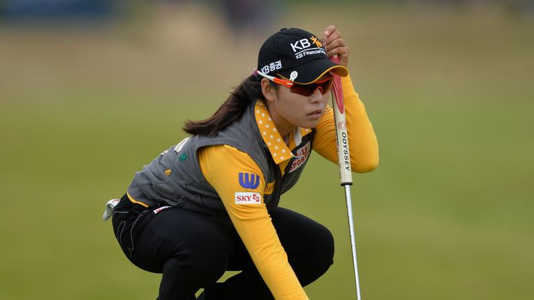 Lee Mi Hyang in action on the final day