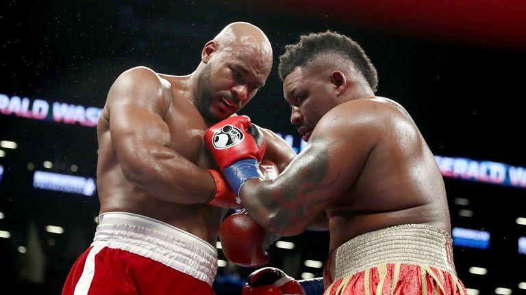 Jarrell Miller stops Gerald Washington in their heavyweight clash from Brooklyn