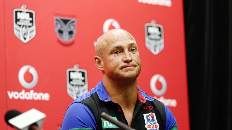 Newcastle Knight's head coach Nathan Brown is under pressure to achieve results with an overhauled squad