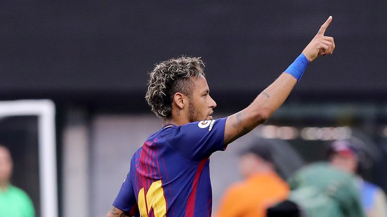 Neymar was on target against Juventus over the weekend