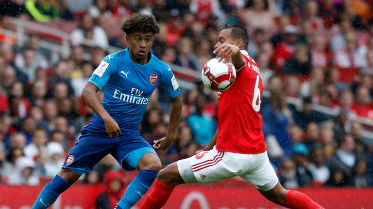 Nelson caused Benfica problems at the Emirates Stadium