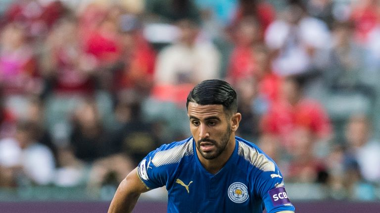 Riyad Mahrez has been linked with a move to Roma