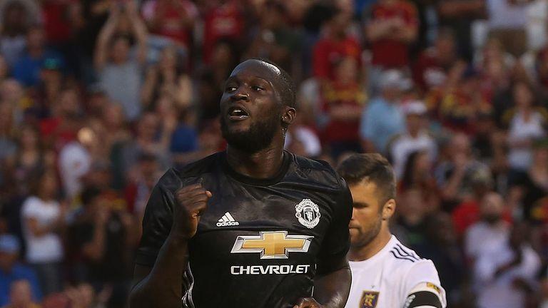 Romelu Lukaku scored his first Manchester United goal