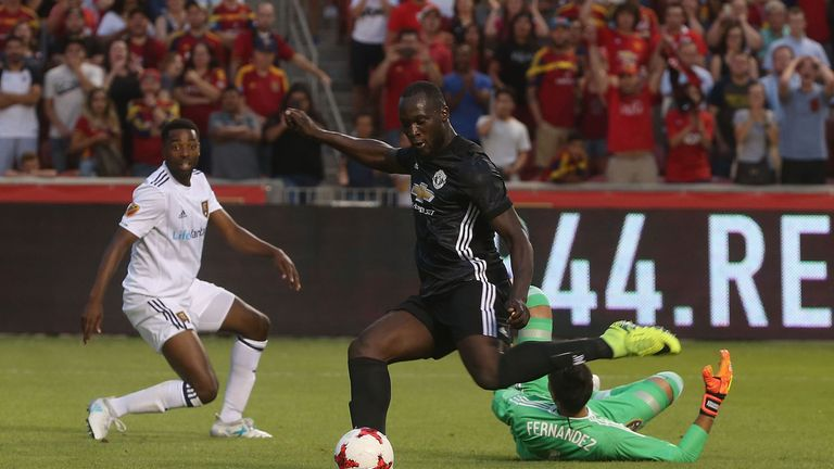 Romelu Lukaku scored for United against Real Salt Lake during their US tour