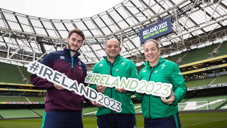 Ireland are competing against France and South Africa for the right to host the 2023 World Cup