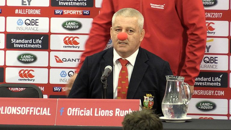 After the third Test, Warren Gatland hit back at the critics in the New Zealand media who had labelled him a 'clown'
