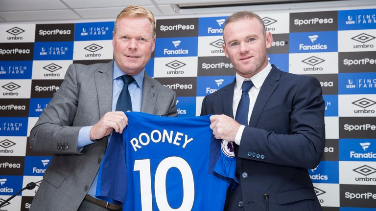 Rooney returned to Everton in July following a 13-year career at Old Trafford