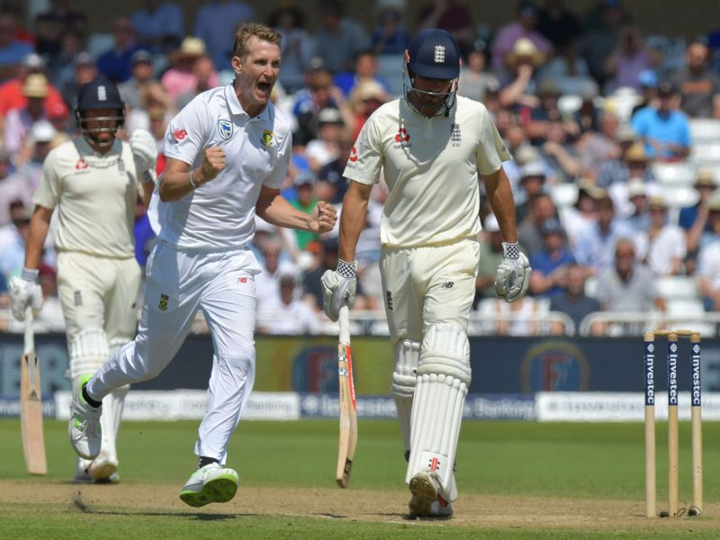 Morris removed the other key man, Alastair Cook, before lunch