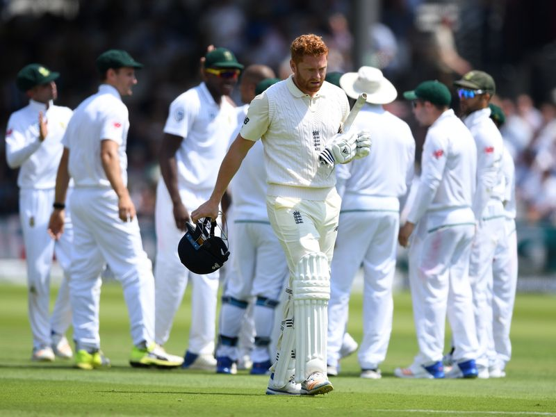 When Jonny Bairstow fell just before lunch, England were 76-4