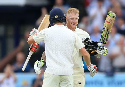 England's Ben Stokes celebrates his century