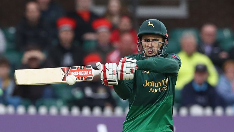 Alex Hales could feature for Notts Outlaws in the first Vitality Blast game to be shown live on Sky