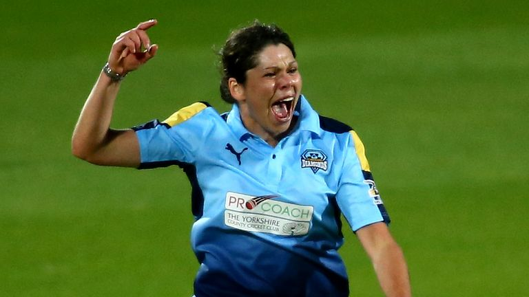 Yorkshire Diamonds' Alice Davidson-Richards is one of several players to offer encouragement for England's future