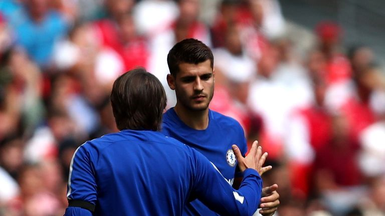 Antonio Conte (left) is one of the reasons Alvaro Morata decided to join Chelsea