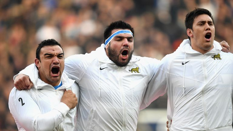 Tighthead prop Ramiro Herrera (middle) is now also ineligible after joining Stade Francais