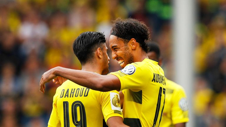 Pierre-Emerick Aubameyang scored a hat-trick against Rielasingen-Arlen in the first round of the DFB-Pokal Cup