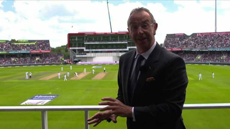 Bumble was back in Lancashire for the fourth Test at Old Trafford