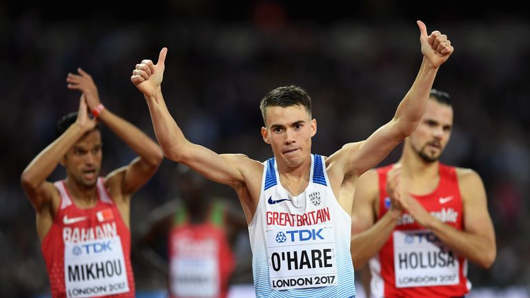 Chris O'Hare of Great Britain finished third in his heat