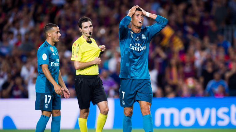 Cristiano Ronaldo received a second yellow card for diving