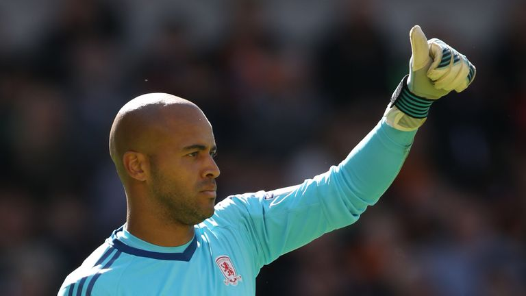 Middlesbrough goalkeeper Darren Randolph