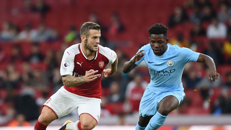 Jack Wilshere had provided an assist for Arsenal's third goal before his dismissal
