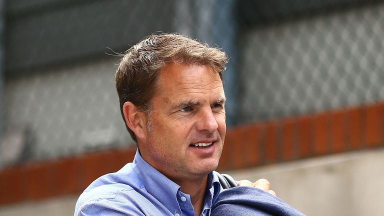 Frank de Boer was appointed Crystal Palace manager earlier this summer