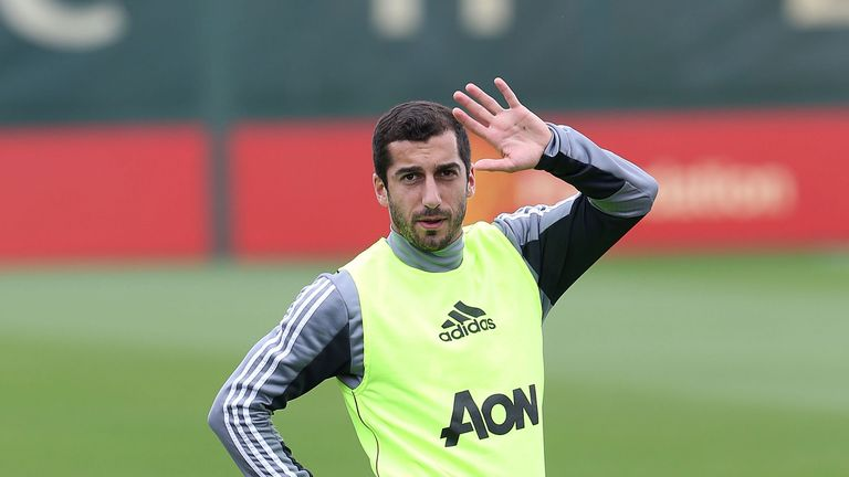 Mkhitaryan trained with United on Friday