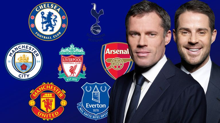 Jamie Carragher and Jamie Redknapp on the top seven Premier League clubs