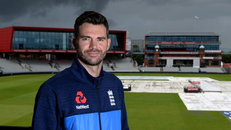 Old Trafford has renamed the Pavilion End the James Anderson End