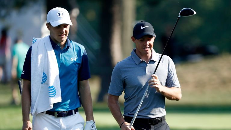 Jordan Spieth and Rory McIlroy both carded 67s
