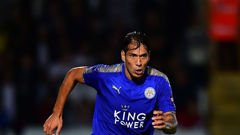 Leonardo Ulloa featured for Leicester in the Checkatrade Trophy