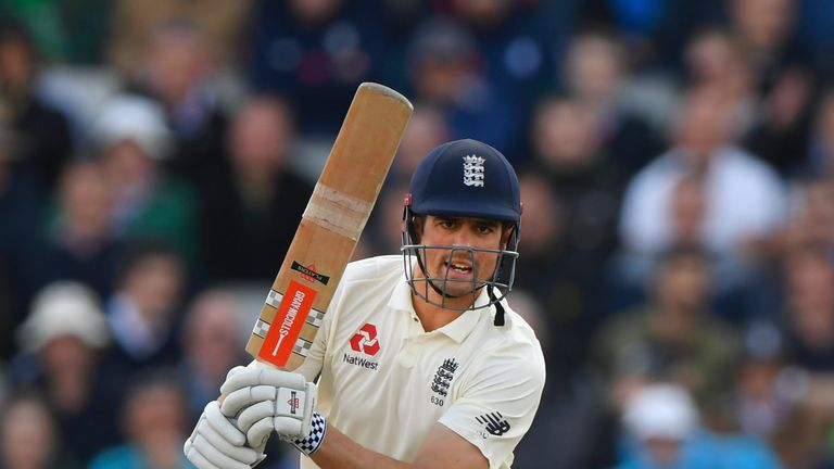 Alastair Cook played a crucial innings on day one at The Oval
