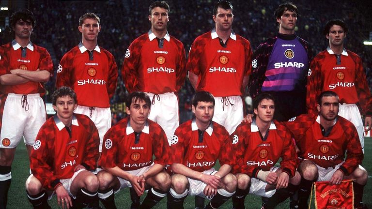 Manchester United's 1996/97 team would have finished fourth in the Premier League - if the final table was based on average rank for defence and attack