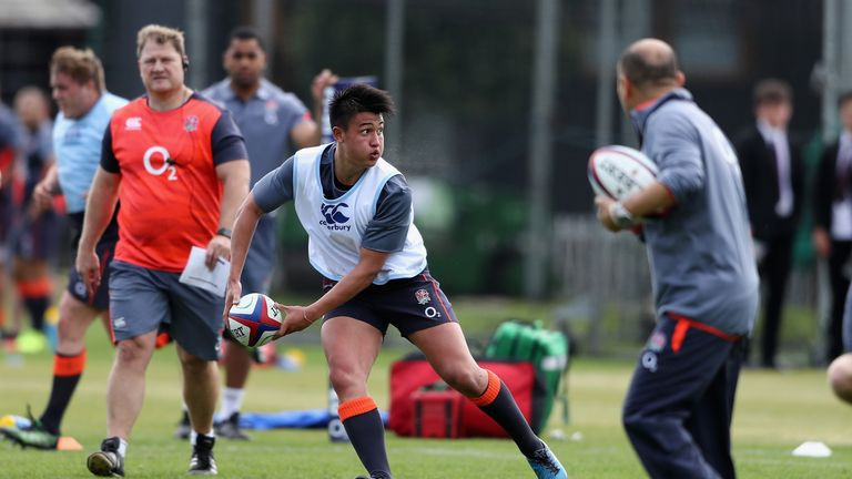 Smith involved in his first training session with the England team while still studying for his A-Levels