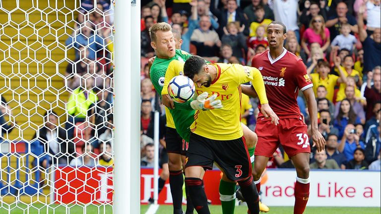 Liverpool have conceded 11 times this season - including three at Watford