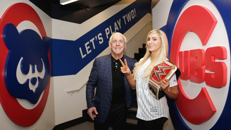 Charlotte, pictured here with her father Ric Flair, won the Raw women's championship four times
