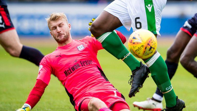 Goalkeeper Scott Bain was Dundee's hero against Hibernian