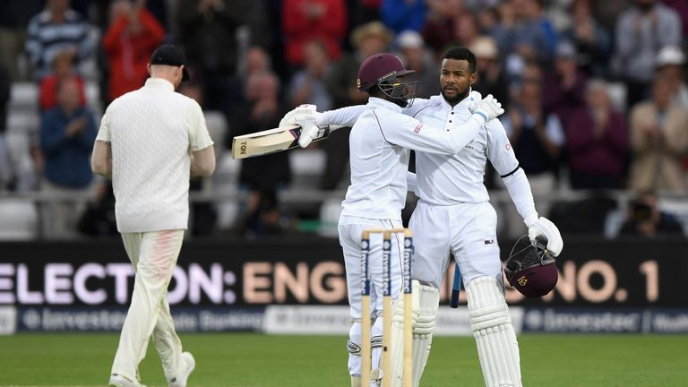 Hope shared a crucial fifth-wicket partnership with Jermaine Blackwood