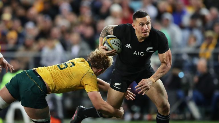 Sonny Bill Williams made his Test debut for the All Blacks back in 2010