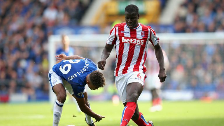 Zouma in action against Everton at Goodison Park in August